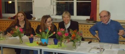 Der gesamte Vorstand (von links): Sonja Dietrich, Hedwig Kreller, Stefanie Junker, Gerhard Helgert