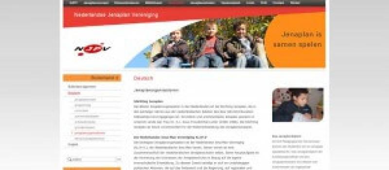 Screenshot Webseite Niederländische Jenaplan Vereinigung